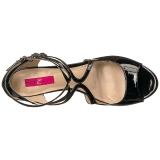 Schwarz Lackleder 7,5 cm KIMBERLY-04 grosse grössen sandaletten damen