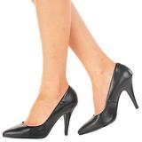 Schwarz Leder 10 cm VANITY-420 High Heels Pumps für Männer