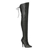 Schwarz Leder 13 cm LEGEND-8899 Overknee Stiefel für Männer