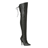 Schwarz Leder 13 cm LEGEND-8899 overknee high heels stiefel