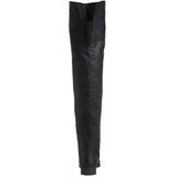 Schwarz Leder 4 cm MAVERICK-8824 Overknee Stiefel für Männer