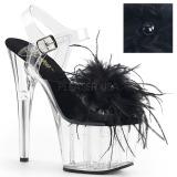 Schwarz Marabou Federn 18 cm ADORE-708MF pole dance high heels