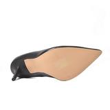 Schwarz Matt 10 cm CLASSIQUE-20 Damen Pumps Stiletto Absatz