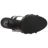 Schwarz Matt 12 cm FLAIR-420 High Heel Sandaletten Damen