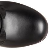 Schwarz Matt 12 cm SLUSH-225 Plateau Gothic Stiefel