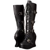 Schwarz Matt 13 cm BRAVO-109 Plateau Gothic Stiefel