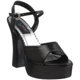 Schwarz Matt 13 cm DOLLY-09 High Heels Damenschuhe für Herren
