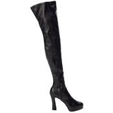 Schwarz Matt 13 cm ELECTRA-3000Z Overknee Stiefel für Männer