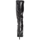 Schwarz Matt 13 cm Pleaser SEDUCE-2000 Damen Stiefel