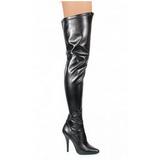 Schwarz Matt 13 cm SEDUCE-3000 Overknee Stiefel für Männer