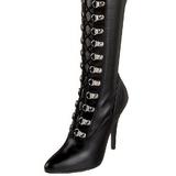 Schwarz Matt 13 cm SEDUCE-3024 Overknee Stiefel für Männer