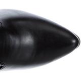 Schwarz Matt 13 cm SEDUCE-3050 Overknee Stiefel Flacher Heels