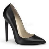 Schwarz Matt 13 cm SEXY-20 Damen Pumps Schuhe Flach
