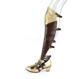 Schwarz Matt 6,5 cm MAIDEN-8830 Cosplay Overknee Stiefel