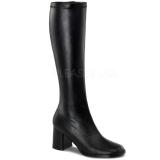Schwarz Matt 8,5 cm GOGO-300 High Heels Damenstiefel für Männer