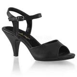 Schwarz Matt 8 cm BELLE-309 High Heel Sandaletten Damen