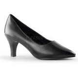 Schwarz Matt 8 cm DIVINE-420W Herren High Heel Pumps