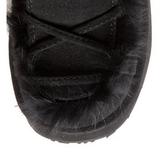 Schwarz Pelz 13 cm CAMEL-311 Plateau Gothic Stiefel