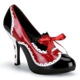 Schwarz Rot 10,5 cm QUEEN-03 Damenschuhe mit hohem Absatz