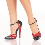 Schwarz Rot 15 cm DOMINA-412 Damenschuhe mit hohem Absatz