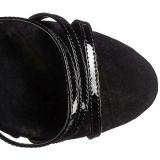 Schwarz Rot 18 cm ADORE-762 Korsett High Heels Schuhe