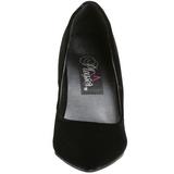Schwarz Samt 10 cm VANITY-420 klassische spitze pumps high heels