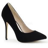 Schwarz Samt 13 cm AMUSE-20 High Heels Pumps für Männer