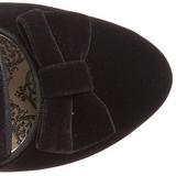 Schwarz Samt 6,5 cm BORDELLO WHIMSEY-115 Stiefeletten