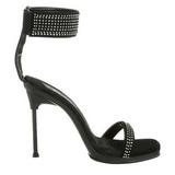 Schwarz Strass 12 cm CHIC-40 High Heels Stilettos Schuhe