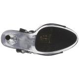 Schwarz Transparent 14 cm ALLURE-609 High Heels Stilettos