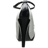 Schwarz Weiss 11,5 cm retro vintage BETTIE-22 Damenschuhe mit hohem Absatz