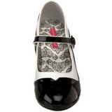 Schwarz Weiss 11,5 cm rockabilly TEMPT-07 Damenschuhe mit hohem Absatz