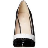 Schwarz Weiss 13 cm AMUSE-26 Damenschuhe mit hohem Absatz
