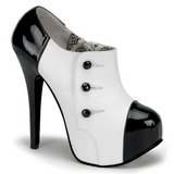 Schwarz Weiss 14,5 cm TEEZE-20 Damenschuhe mit hohem Absatz