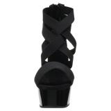 Schwarz elastisches band 15 cm DELIGHT-669 pleaser damenschuhe