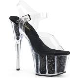 Schwarz glitter 18 cm Pleaser ADORE-708G pole dance high heels schuhe