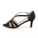 Schwarz glitzern 6,5 cm Fabulicious MISSY-03 Sandaletten mit high heels