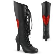 Schwarze 9,5 cm GLAM-243 Demonia schnürstiefel high heels