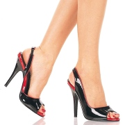 Schwarze slingback schuhe 13 cm SEDUCE-117 slingback high heels