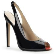 Schwarze slingback schuhe 13 cm SEXY-08 slingback high heels