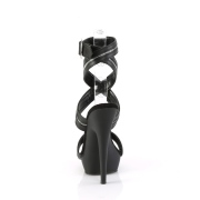 Schwarze stöckelschuhe plateau 15 cm SULTRY-619 vegane stöckelschuhe