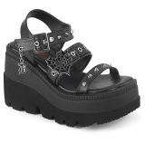 Silber 11,5 cm CELESTE-09 glitzer sandaletten mit blockabsatz