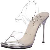 Silber 11,5 cm CHIC-08 Sandaletten mit stiletto absatz
