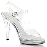 Silber 11,5 cm FLAIR-408 High Heel Sandaletten Damen