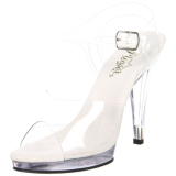 Silber 11,5 cm FLAIR-408 High Heel Sandaletten Damen