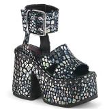 Silber 12,5 cm Demonia CAMEL-102 lolita plateau sandaletten