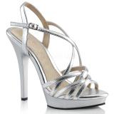 Silber 13 cm Fabulicious LIP-113 Sandaletten mit high heels