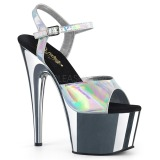 Silber 18 cm ADORE-709HGCH Hologramm plateau high heels