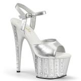 Silber 18 cm ADORE-709VLRS plateau high heels mit strass steinen