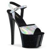 Silber 18 cm SKY-309HG Hologramm plateau high heels